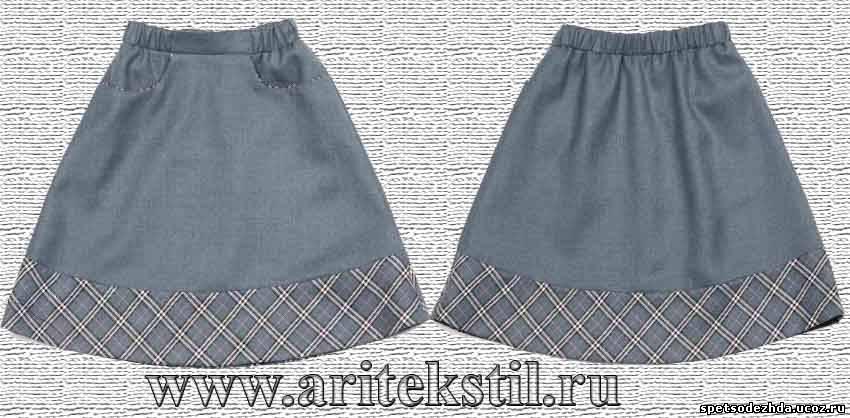 Школьная юбка на резинке своими руками 71